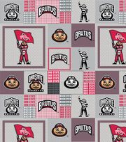 "Ohio State University Buckeyes Fleece Fabric 60""-Reverse, , hi-res"