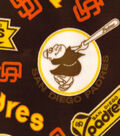 Sand Diego Padres Fleece Fabric-Cooperstown