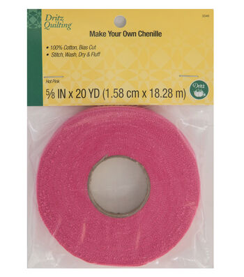 Dritz Quilting Make Your Own Chenille 0.63''x20 yds-Hot Pink