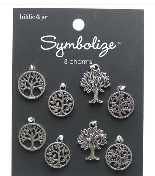 hildie & jo Symbolize 8 pk Tree of Life Silver Charms