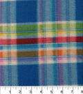 Blizzard Fleece Fabric 58\u0022-Multi Bright Plaid