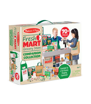 Melissa & Doug Fresh Mart Grocery Store Companion Collection Set