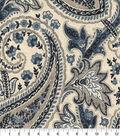 Williamsburg Multi-Purpose Decor Fabric 54\u0027\u0027-Ink Plumtree Paisley