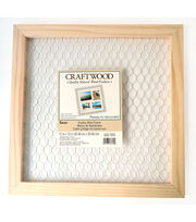 Darice Craftwood 12''x12'' Unfinished Chicken Wire Square Frame, , hi-res