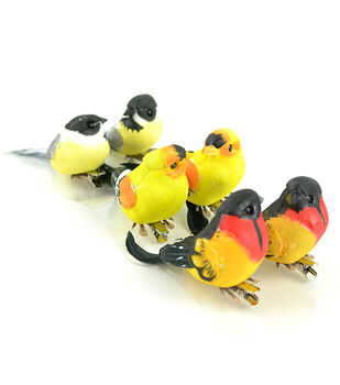 Midwest Designs Oriole Finch Chickadees 6pcs