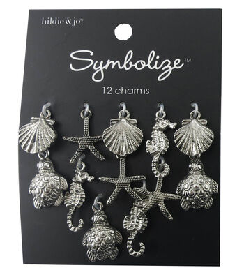 hildie & jo Symbolize 12 Pack Sea Life Silver Charms