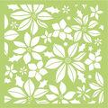 Kaisercraft Designer Template 6\u0022X6\u0022-Poinsettia