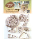 Dreamerland Crafts Clear Stamp Set-Traveling The World To See You