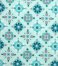 Keepsake Calico Cotton Fabric -Mint Diamond Medallion