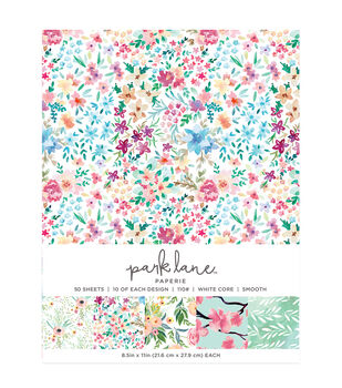 Park Lane 50 pk 8.5''x11'' Value Papers-Floral