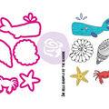 Prima Marketing Julie Nutting Mermaid Kisses Stamps & Dies-Sea Life