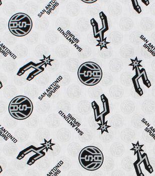 San Antonio Spurs Cotton Fabric -Logo Toss