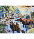 Novelty Cotton Fabric Panel 44\u0022-North American Wildlife