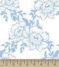 Blue Flowers Print Fabric