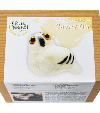 Pretty Twisted Kelly L. Corbett Needle Felting DIY Kit-Snowy Owl