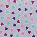 Snuggle Flannel Fabric -Heart Bursts