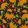 Novelty Cotton Fabric-Taco Dinos
