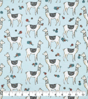 Snuggle Flannel Fabric-Serene Llamas