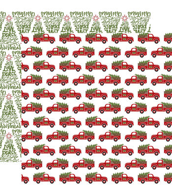 "Celebrate Christmas Double-Sided Cardstock 12""X12""-Fresh Cut Trees"