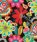 P/K Lifestyles Outdoor Fabric 54\u0022-Flower Child/Spectrum