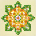Diamond Dotz Diamond Embroidery Art Kit 4.75\u0027\u0027X4.75\u0027\u0027-Flower Mandala 1