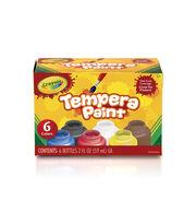 Crayola Tempera Paint Set 2oz 6/Pkg-, , hi-res