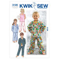 Kwik Sew Pattern K3126 Toddlers\u0027 Sleep & Lounge-Size T1-T4