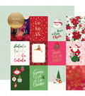 Merry & Bright Foiled Double-Sided Cardstock 12X12-3X4 Journaling Cards