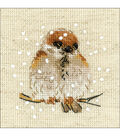 RIOLIS Create it Yourself 4\u0027\u0027x4\u0027\u0027 Counted Cross Stitch Kit-Sparrow