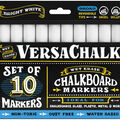 VersaChalk Bold Liquid Chalk Markers 10/Pkg-White