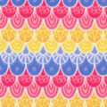 Blizzard Fleece Fabric-Multi Mermaid Scales