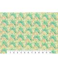 Modern Premium Cotton Print Fabric 43\u0027\u0027-Green Textured Medallions