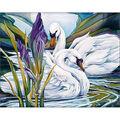 Collection D\u0027Art Diamond Embroidery/Printed/Gem Kit 48X38cm-Swans & Iris