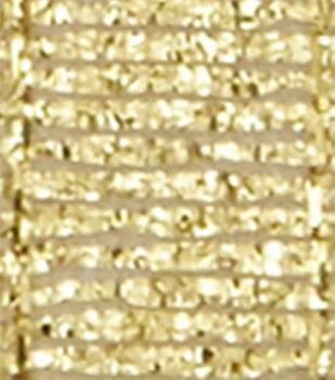 "Offray 3/8""x9' Galena Metallic Woven Ribbon-Gold"