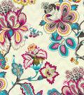 HGTV Home Multi-Purpose Decor Fabric-Bespoke Blossoms Peacock