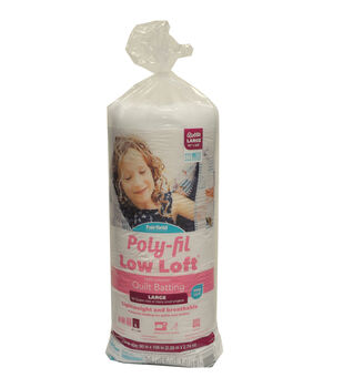 """Poly-Fil Low Loft Queen Size 90""""x108"""" 100% Bonded Polyester Batting"""