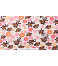 Blizzard Fleece Fabric 59\u0022-Floral Monkey