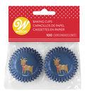 Wilton 100ct Mini Baking Cups-Reindeer with Lights