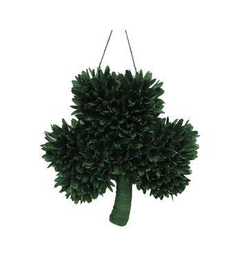 St. Patrick's Day Shamrock Woodchips Wreath