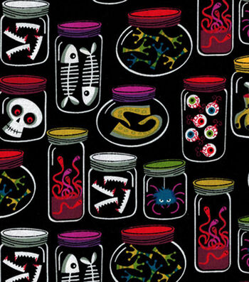 "Holiday Inspirations Costume Fabric 43""-Monster Jars"