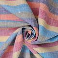100% Linen Fabric-Multi Stripe YD