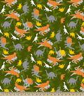 Camoflauge Dinosaurs Print Fabric