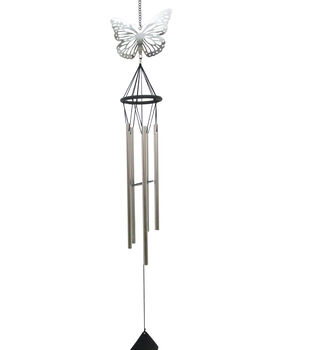 In the Garden Metal Butterfly Wind Chime