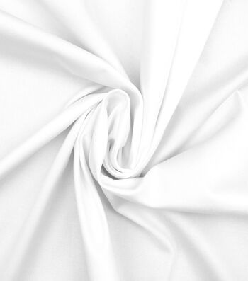Bottomweights Stretch Twill Fabric -White Solid
