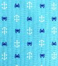 Tutti Fruitti Ahoy Embellished Fabric 44\u0027\u0027-Anchors & Crabs on Blue