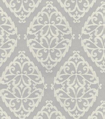 P/K Lifestyles Upholstery 8x8 Fabric Swatch-Stencil Study/Fog