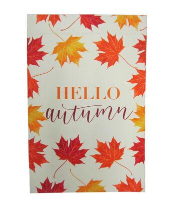 Simply Autumn 12''x18'' Flag-Hello Autumn & Leaves