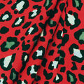 Knit Prints Double Brushed Fabric-Red Cheetah