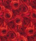 Keepsake Calico Cotton Fabric 43\u0027\u0027-Red Packed Roses