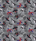 Marvel Spide-Man Cotton Fabric-Miles and Friends